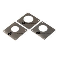 Nest Box Cover Plates Stainless Steel set of 3