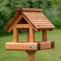Denby Wooden Roof Bird Table