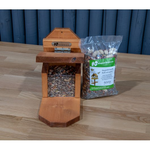 Squirrel Feeder With Food, Nest Boxes & Habitats