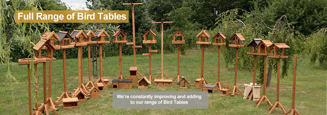 Huge Range of Bird Tables