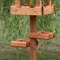 Baby Triple Platform Bird Table c/w slate roof, Bird Tables
